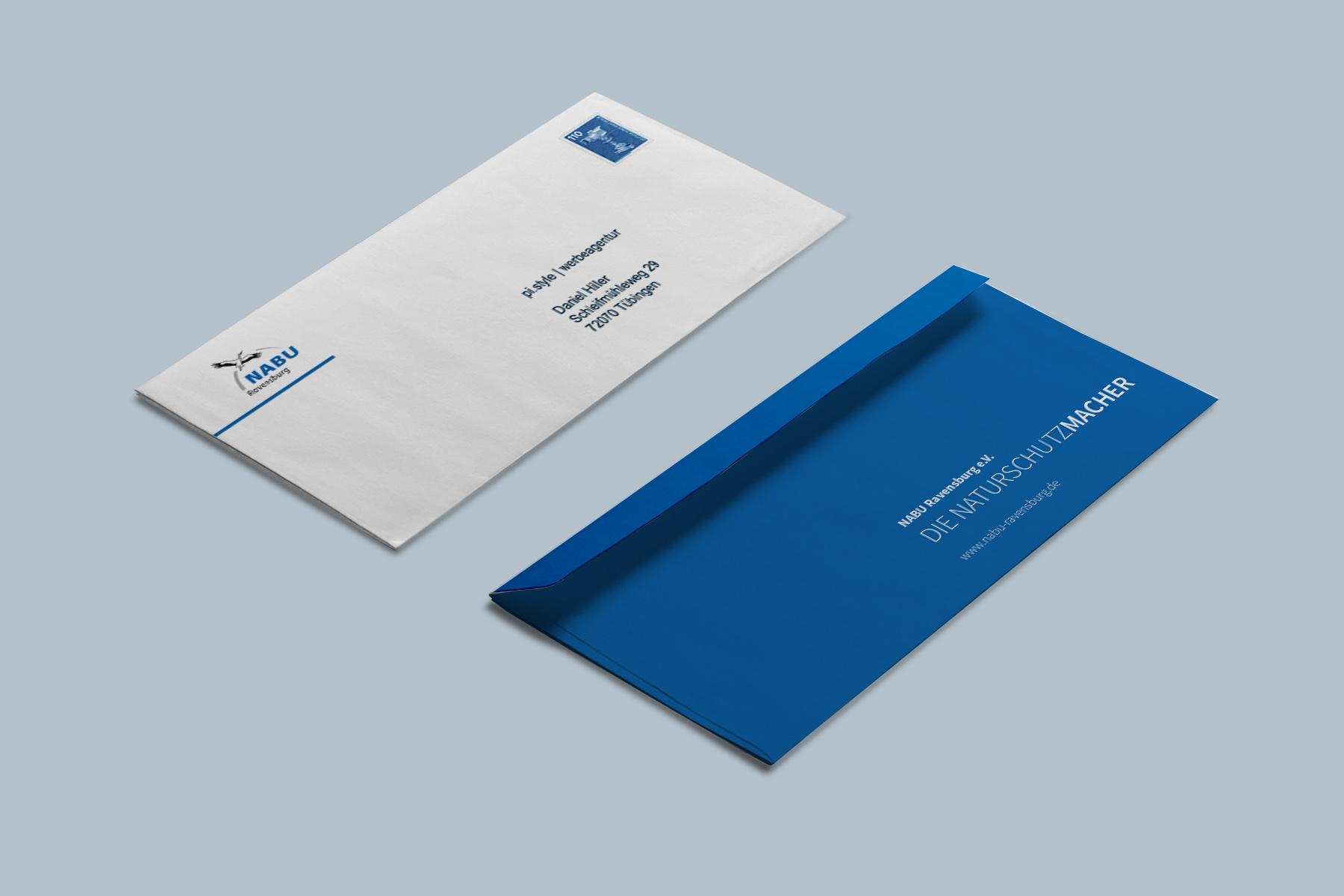 Briefumschläge für den NABU Ravensburg e.V.