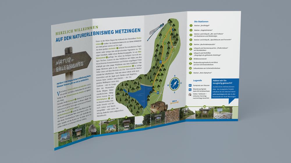 Naturerlebnisweg-Flyer NABU Metzingen