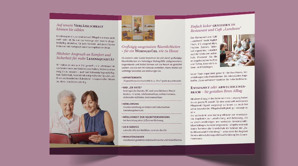 Informationsflyer Seniorenhotel Limpurg